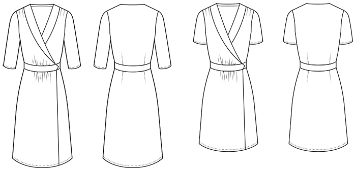 Sew Over It 1940's Wrap Dress sewing pattern
