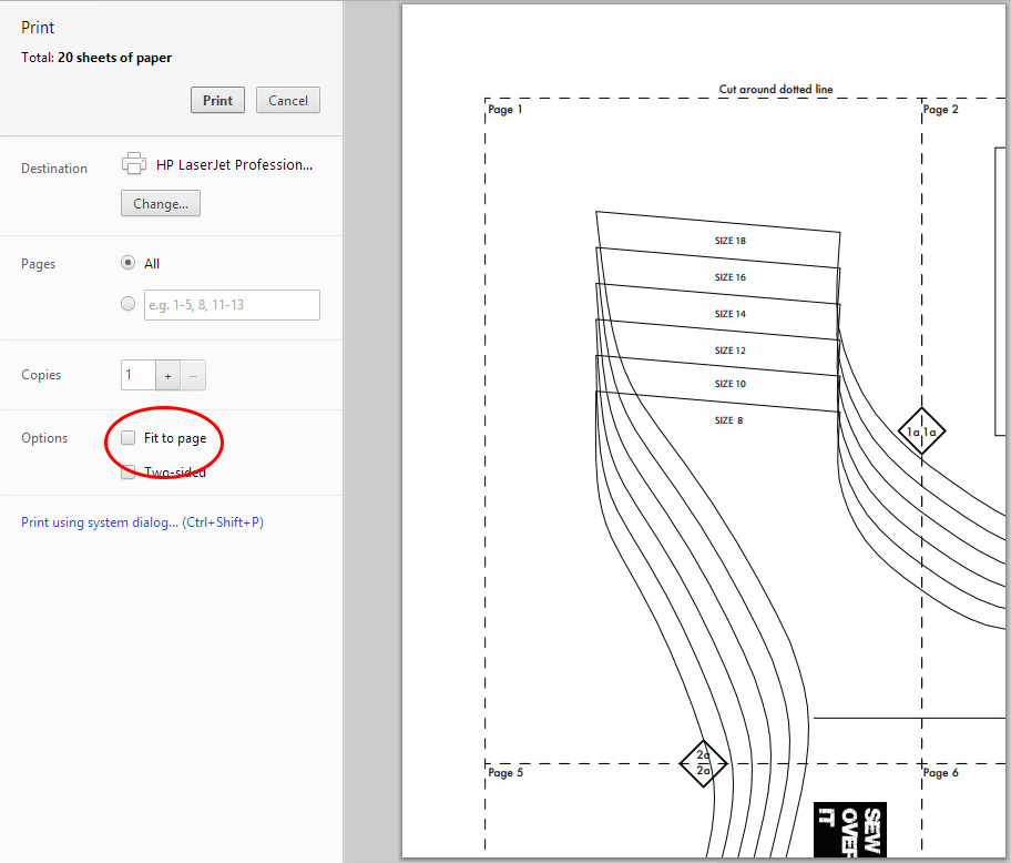 How to Assemble a PDF Pattern, a handy guide from Sew Over It