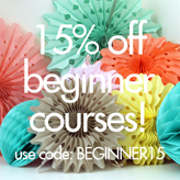 15% off Beginner Sewing Classes!