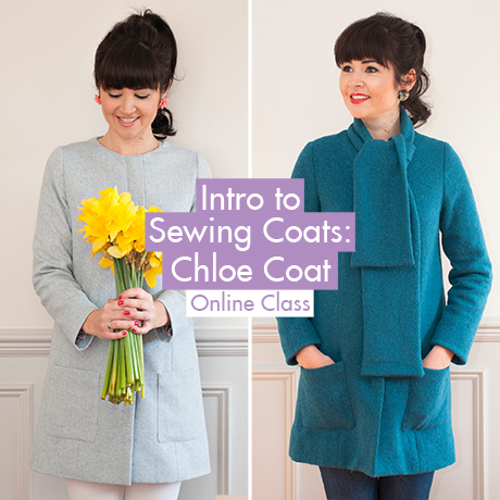 452ca4019436e Intro to Sewing Coats  Chloe Coat online sewing class from Sew Over It