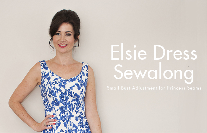 Elsie Dress Sewalong: Small Bust Adjustment for Princess Seams