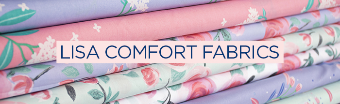Lisa Comfort fabric range - available at Sew Over It :: https://sewoverit.com/product-category/fabric-shop-by-type/lisa-comfort-fabrics/
