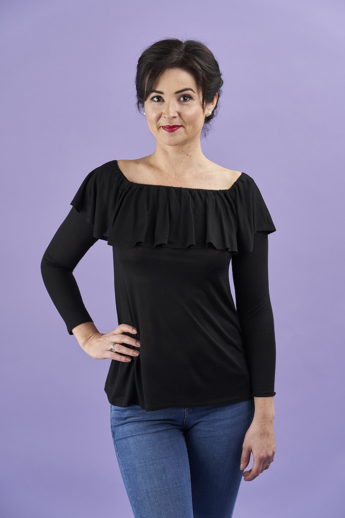 Lucia Top Sewing Pattern by Sew Over It :: super on-trend jersey top