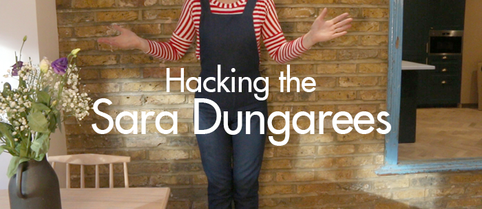 Hacking the Sara Dungarees | Taper the leg for a skinny fit :: Sew Over It blog
