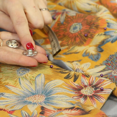 How to sew on a popper