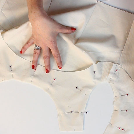 How to sew an all in one facing