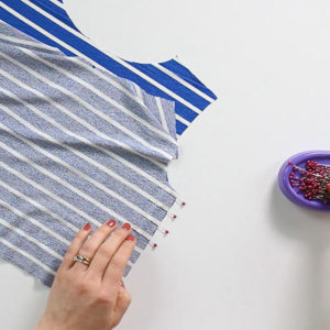 How to cut and sew stripes