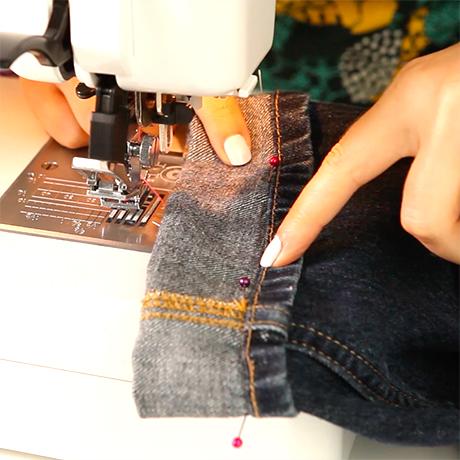 How to hem & shorten jeans