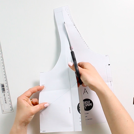 How to do a small bust adjustment on a non-darted bodice