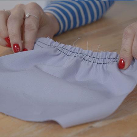 How to use shirring elastic