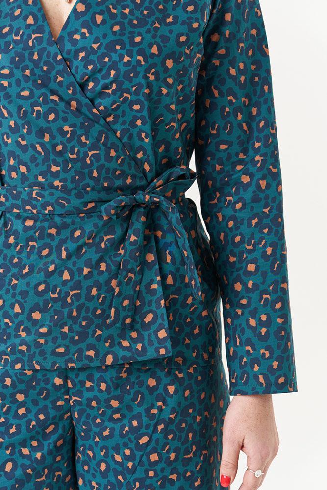 Close-up detail photo of the Luna Pyjamas Sewing Pattern