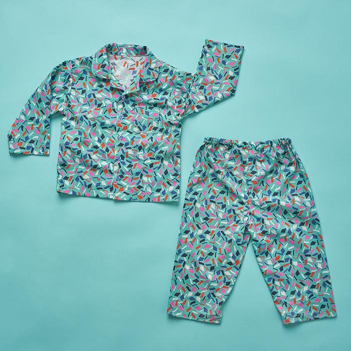 Pomegranate Pyjamas flatlay