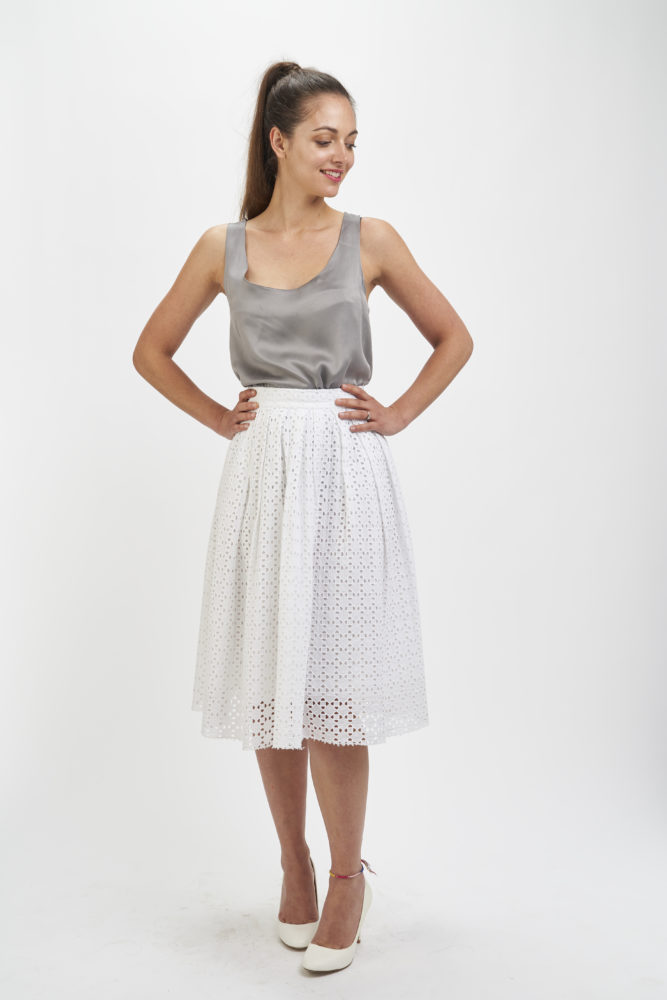 Lizzie Skirt and Silk Cami