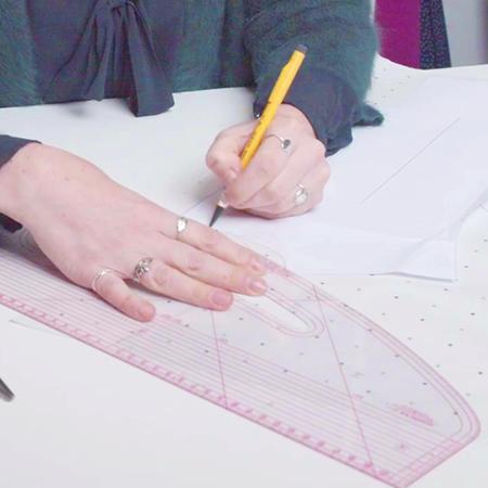 How to raise a wrap neckline