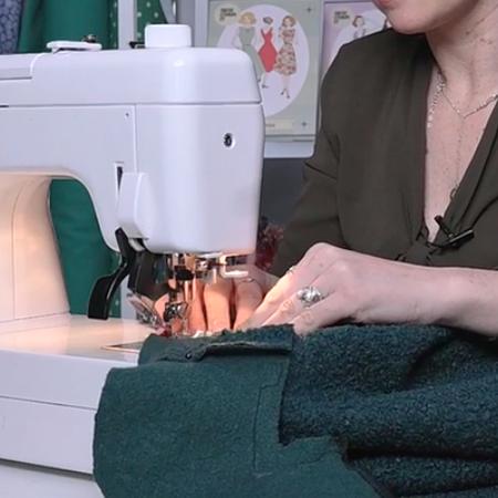 How to sew the collar of the Jessie Coatigan