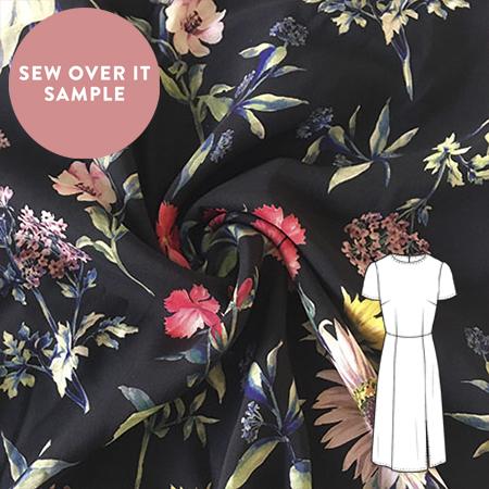 Sew Over It Online Shop - Viscose - Midnight botanical