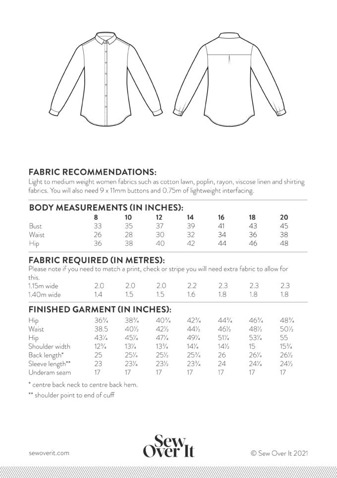 Ultimate Shirt Size Chart
