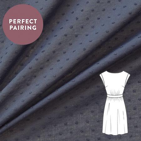 Sew Over It - Cut Spot Cotton navy