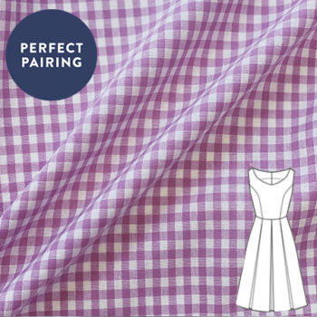 Pink Gingham Woven Fabric