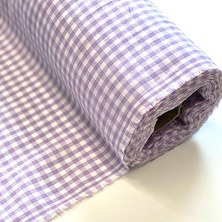 Purple Gingham Woven Fabric