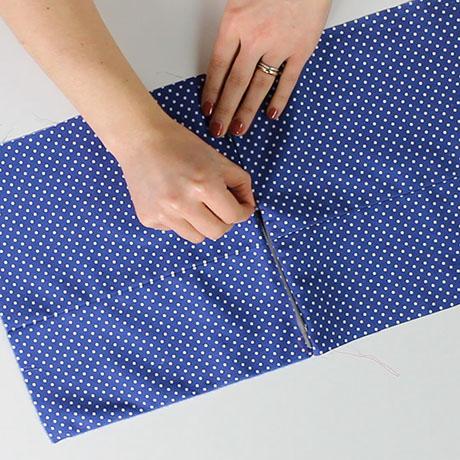 How to match a waistband across a zip