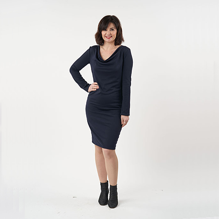 Cowl Neck Dress - sew over it