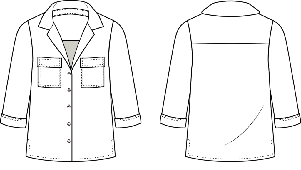 Sew Over It - Jodie Shirt line drawing