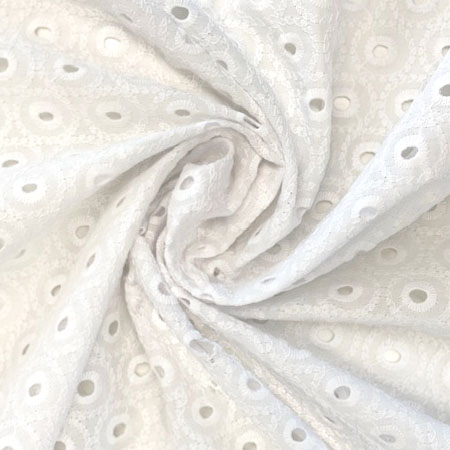 Sew Over It - Embroidered Cotton Voile - Circles