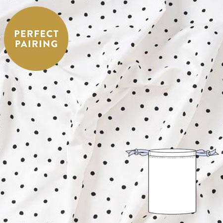 Sew over it monochrome spots cotton drill