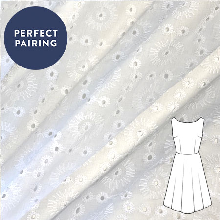 Sew Over It - Emboridered cotton voile - sunstars