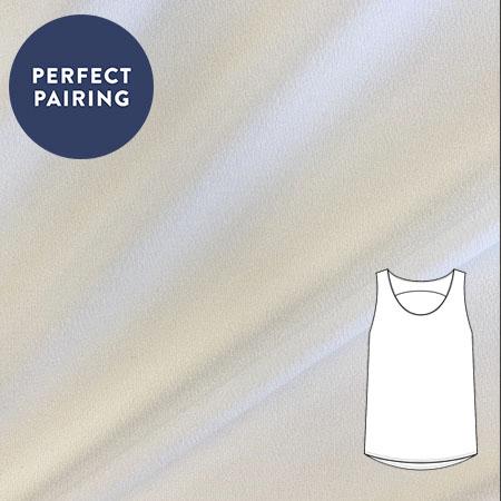 Sew Over It - Viscose crepe - white
