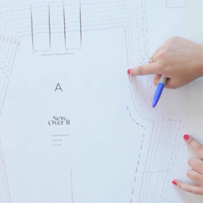 How to use a trouser pattern to make shorts