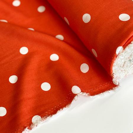Sew Over It - Viscose Orange pOlka