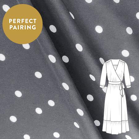 Sew Over It - Dancing Polka Black