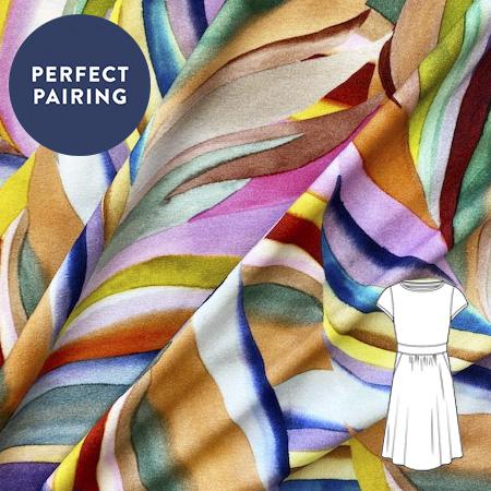 Sew Over It - Watercolour dream jersey