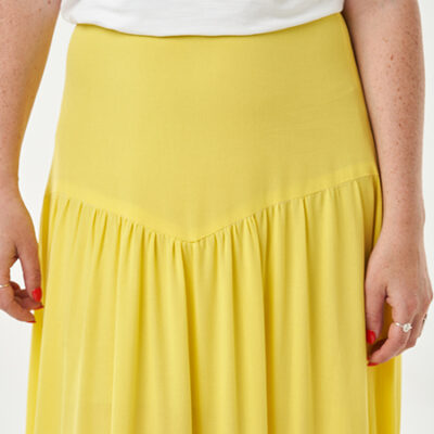 How to sew the yoke on the Niamh Skirt