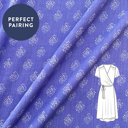 Sew Over It - Jaipur blue print fabric