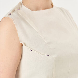 Pattern Drafting bodice with pins