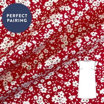Sew Over It- Pansy Red Cotton