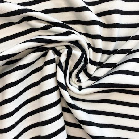 Sew Over It - Ponte di Roma Stripey Black